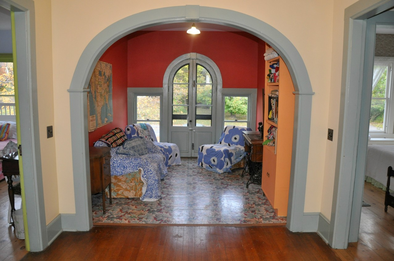 Looking into chill space from the hallway.