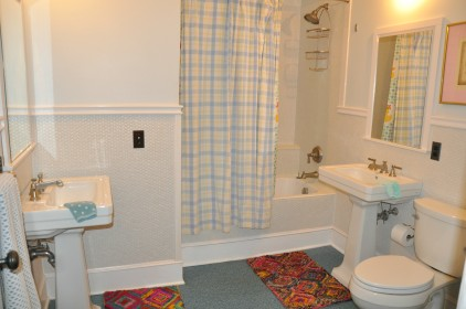 Hallway Bathrooms are all designed with multi-users in mind.