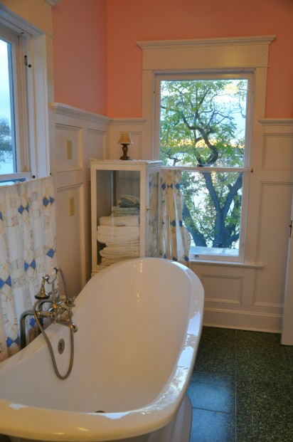 Soaking Tub in Master Suite with lakeveiws.