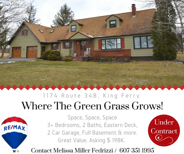 Under COntract Where the green grass grows!