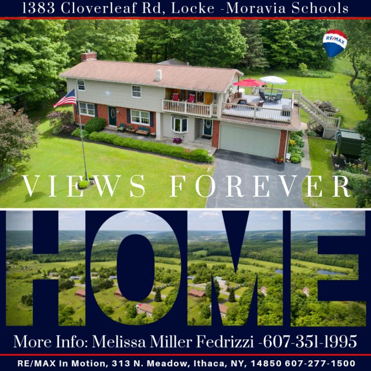 1383 Cloverleaf Rd, Locke, NY Moravia Schools