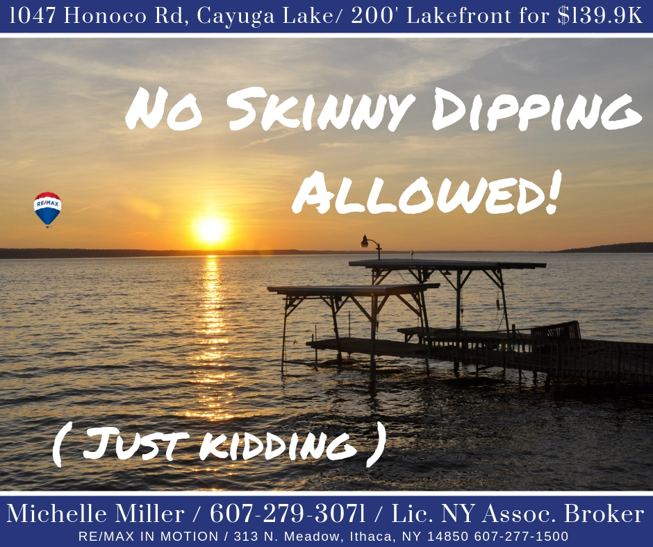 Skinny DippingProhibited.